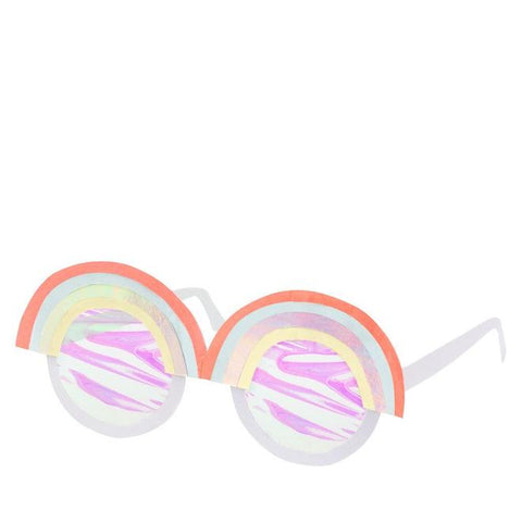 Rainbow Paper Glasses