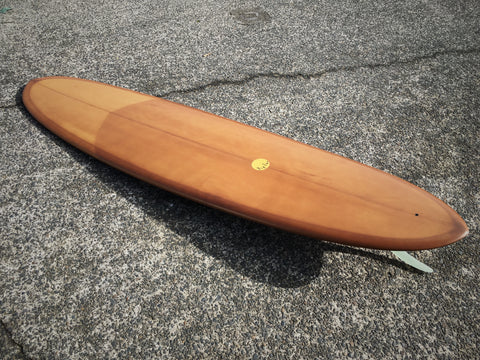 Double Ender Down Rail Midlength - 7'8 Brown Tint and 10' inch Rake