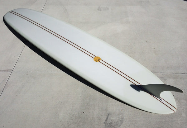 Big Hotdogger Pin Tail - 9'2 Volan Double Cedar Stringer and 10.5' Inch Logger