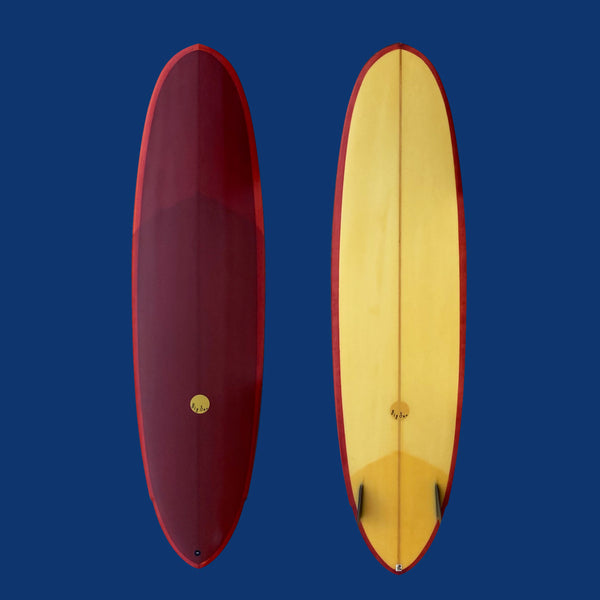 Used 7'2 Twin Pin Midlength - with Glass in 80's Twins