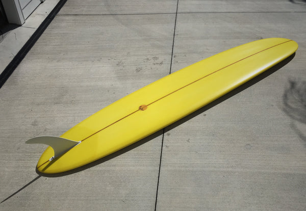 Big Log Pin Tail - 9'6 Warhol Banana Yellow with 10'5 Inch Logger
