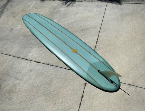 9'2 Hotdogger - Pistachio Green Triple Cedar Stinger pin tail