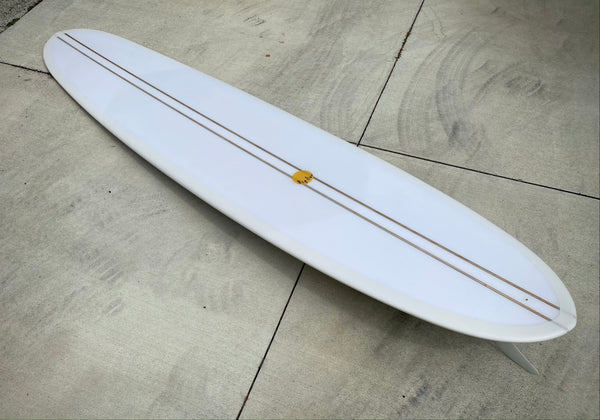 9'2 Hotdogger - Beige Bottom and Clear Deck with Double Balsa Stringer