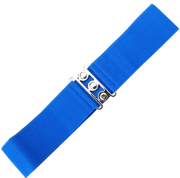 Dancing Days 50s Vintage Elasticated Stretch Belt (Royal Blue) - Cherry Red Vintage