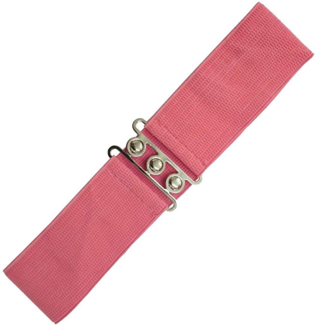 Dancing Days 50s Vintage Elasticated Stretch Belt (Coral) - Cherry Red Vintage