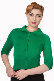 Banned Retro 40s 50s April Green Short Sleeve Cardigan *