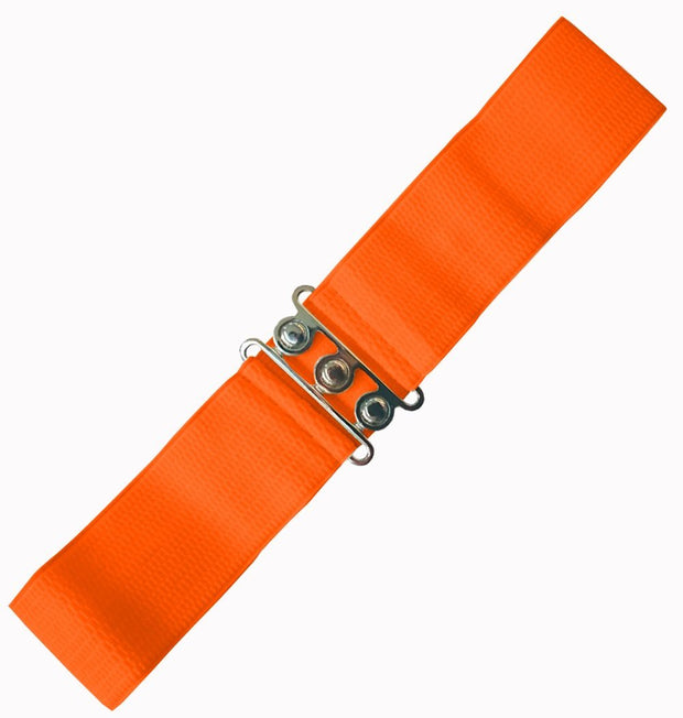 Dancing Days 50s Vintage Elasticated Stretch Belt (Orange) - Cherry Red Vintage