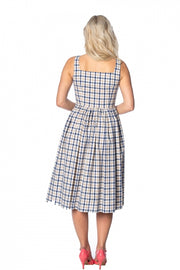 Banned Retro Let's Vacay Blue Check Dress *