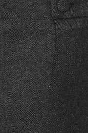 Banned 40s Grey/Charcoal Black Tweed Herringbone Office Trousers