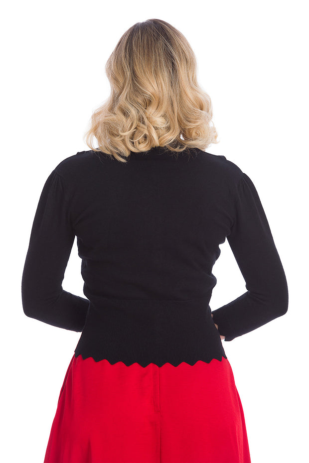 Banned Retro Bunny Hop Black Cardigan