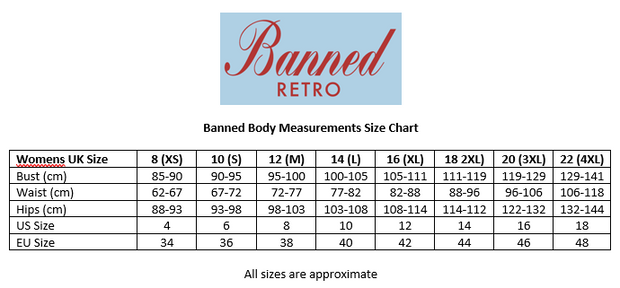 Banned Retro 40's 50's Style Cherry Berry Black Jumper