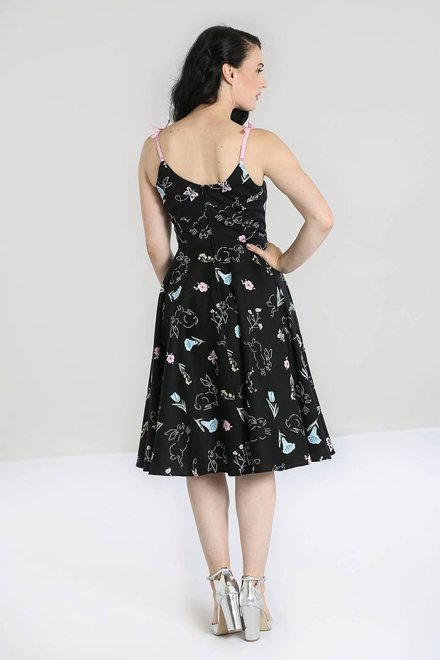 Hell Bunny Binky Bunny Rabbit Print 50'S Dress