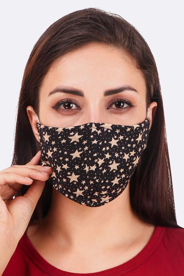 Seamless Star Print Cotton Fashion Face Mask