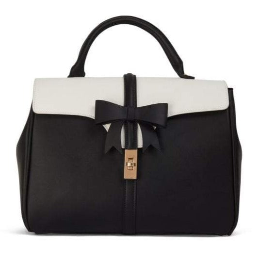 Collectif Roberta Black White Bow Shoulder Bag
