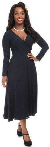Collectif Willa Plain Wrap Dress