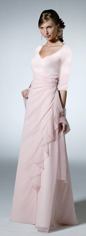 Chiffon Bridesmaid Dress (3/4 sleeves) for M.P.'s MOH