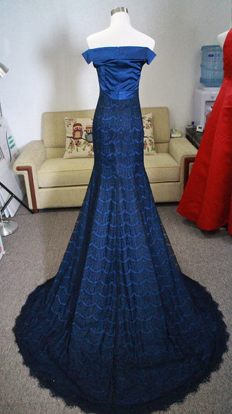 Blue Prom Dress designed by Client