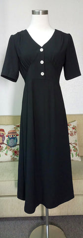 Casual Black Dress we made