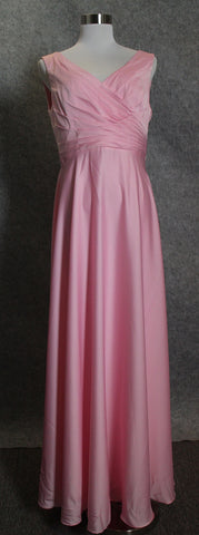 Pink Charmeuse Bridesmaid Dress we made