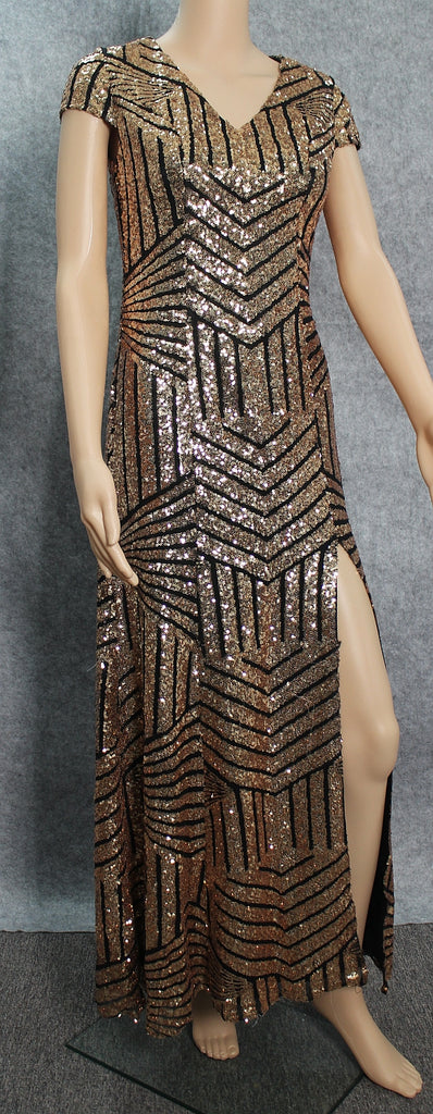 Gold/Black Sequin Dress designed by Client
