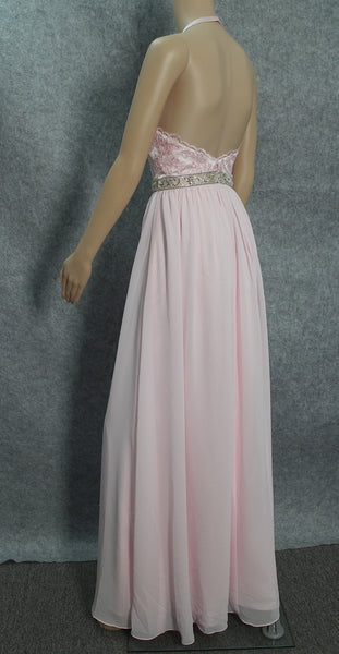 Pink Dress with Rhinestone Belt we made