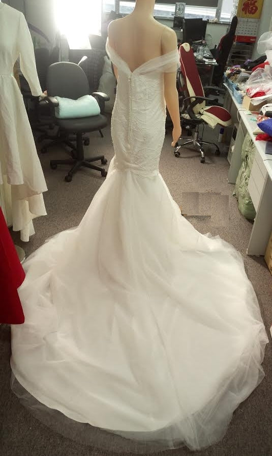 Beaded Wedding Dress with Interchangeable Train