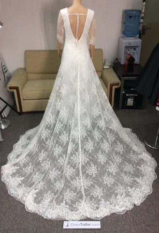 Lace Wedding Dress we made