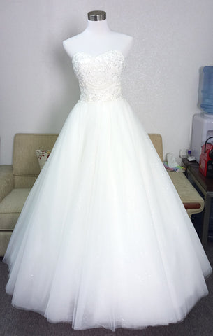 Beaded A-line Wedding Dress we made