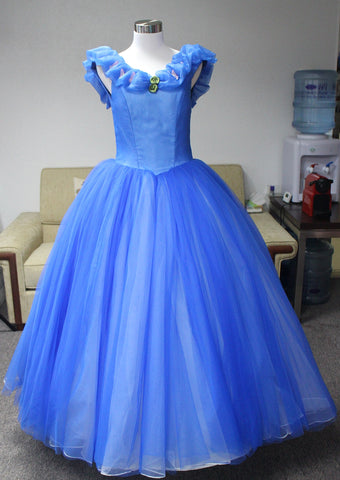 Cinderella Prom Dress we made