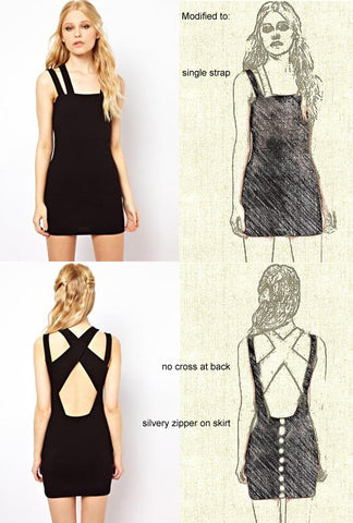 Black Mini Body-con Dress for Mary