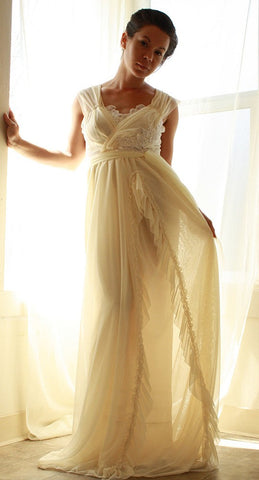 White Romance- Soft Bohemian Wedding Gown