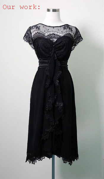 Vintage Style Black Lace Dress for G.Y.