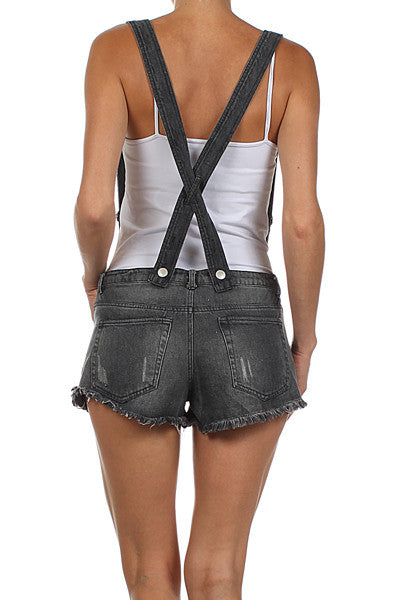 Suspender Shorts with Pockets