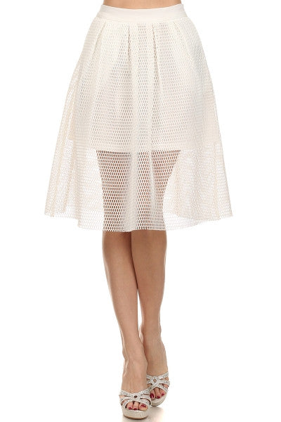 Net Skirt with Pockets