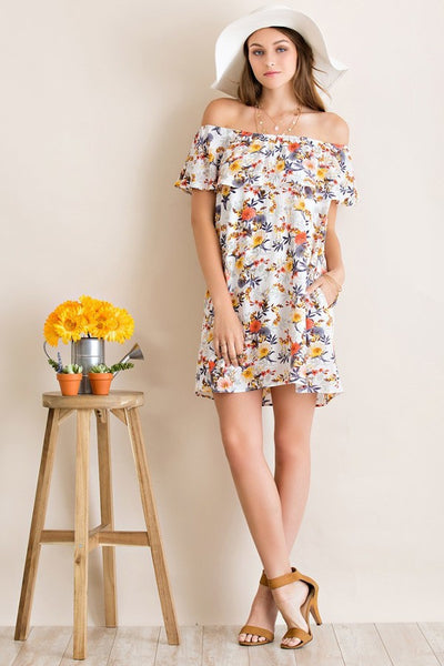 Floral Shoulder Dress