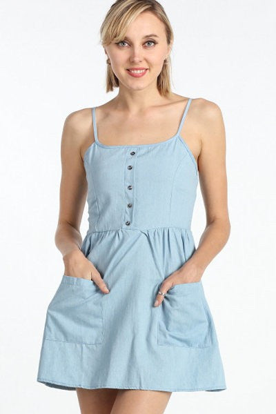 Sweetie Denim Dress with Pockets