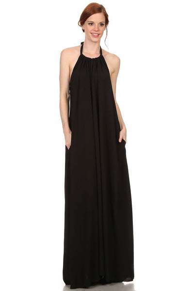 A-Line Maxi Dress with Pockets