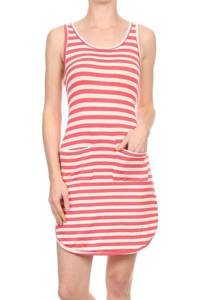 Stripe Tank Dress with Pockets