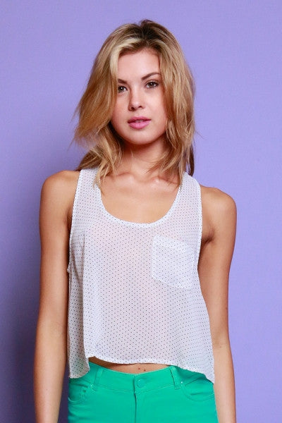 Small Dot Tank with Pockets