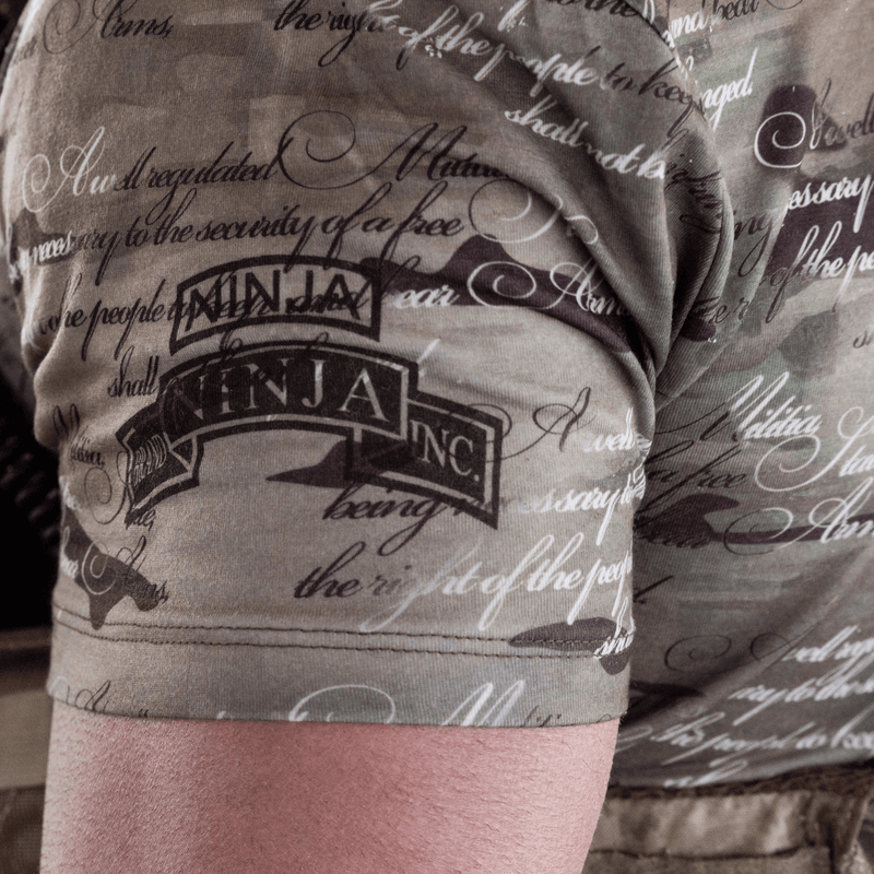 Ninja Tactical 2nd Amendment Camo Mens T-Shirt