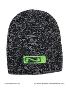 Ninja Brand Charcoal Granite Beanies with Green Logo