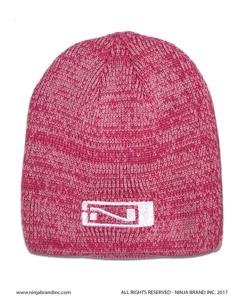 Ninja Brand Pink Marbled Beanies with Green Logo
