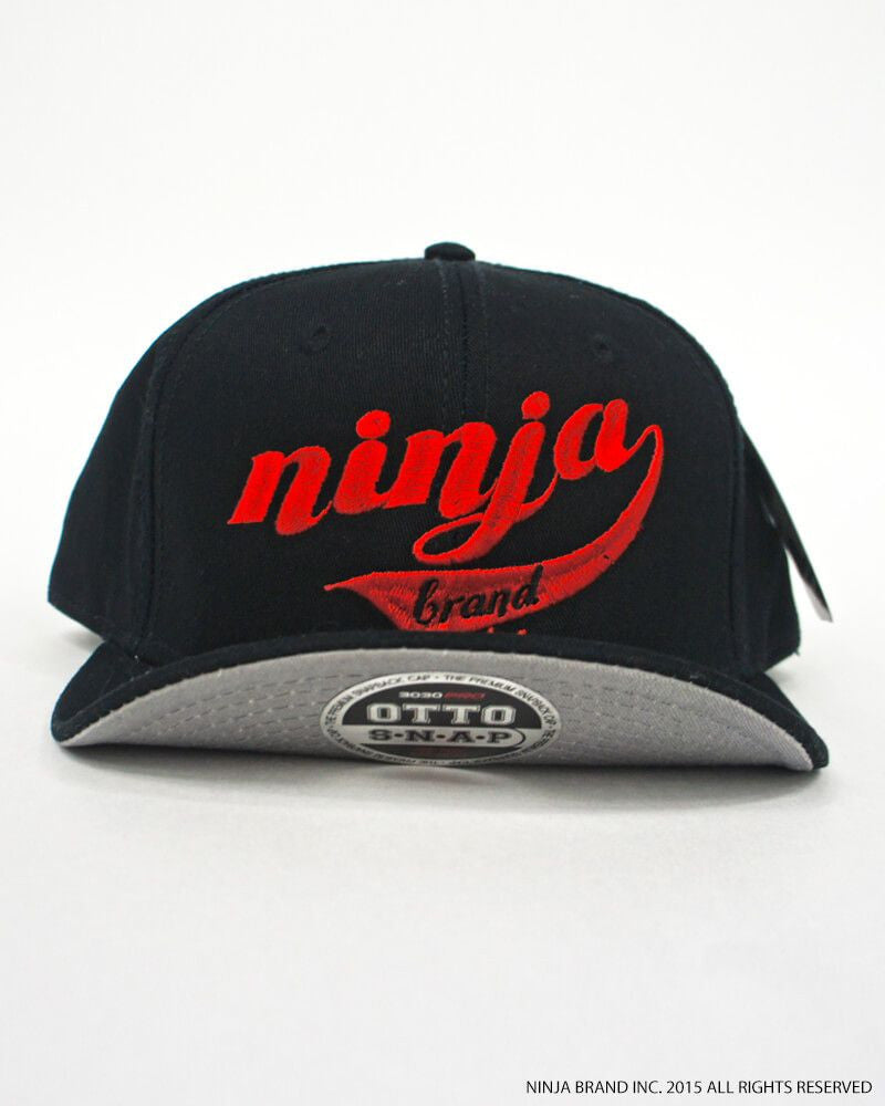 NBI Logo Flex Fit - Flip Cap - Black - Red Embroidering - Front View