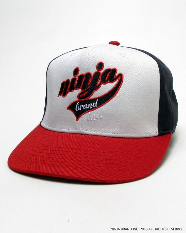 NBI Cotton High Crown Snapback Hat - Thin-Structured