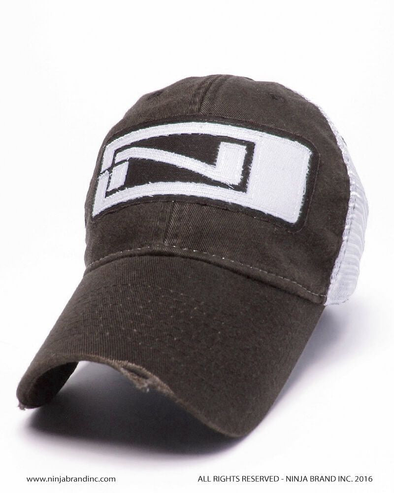 Tattered Ninja Logo Snap-back Trucker Hat - Relaxed Twill