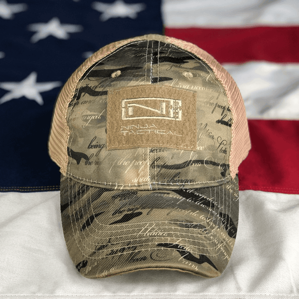 2nd Amendment Camo - Ninja Tactical Trucker Hat