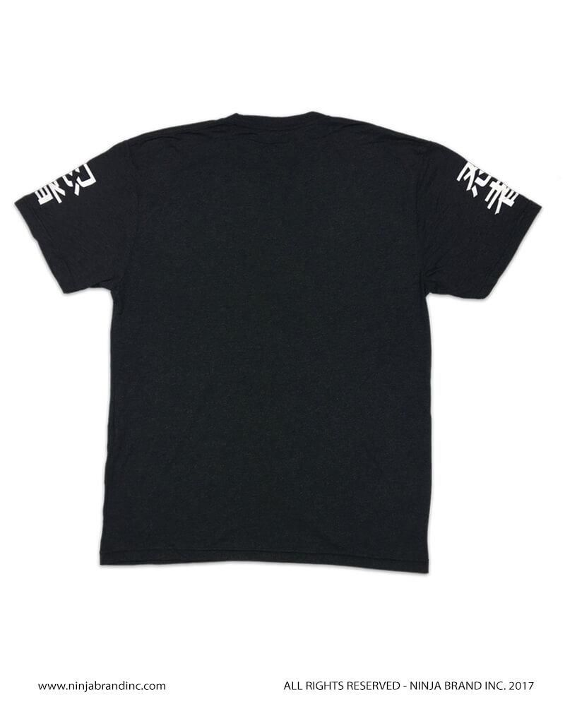 Ninja Brand Ninja Status Men's T-Shirt Heather Black Back