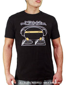 Ninja Brand Inc - Men's T-Shirt in Black - DJ Ninja on front - Ninja Please on back - Front View