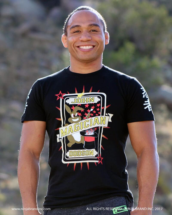 John Dodson wearing Ninja Brand Inc. Magician Signature T-Shirt in Men's