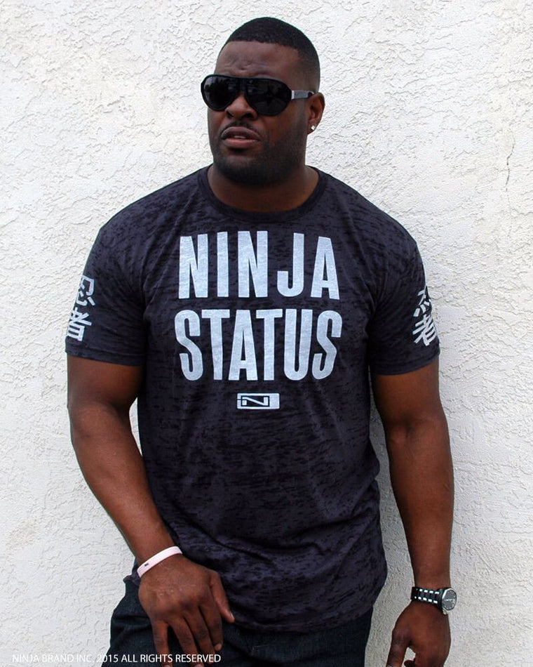 Men's NINJA STATUS Burnout T-Shirt